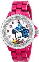 EWatchFactory Disney Women's W000922 Minnie Enamel Sparkle Watch