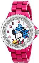 EWatchFactory Disney Women's W000922 Minnie Pink Enamel Sparkle Watch