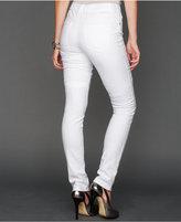 INC International Concepts Petite Skinny Jeans, White Wash