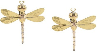 Josie Natori Dragonfly Clip-On Earrings