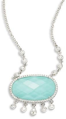 Meira T Diamond & Turquoise Doublet Pendant Necklace