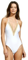 Vix Solid White Jute One Piece