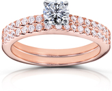 Ice 4/5 CT TW Lab-Grown Diamond 14K Rose Gold Bridal Set, IGI Certified