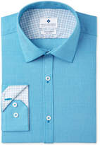 Ryan Seacrest Distinction Ryan Seacrest DistinctionTM Men's Slim-Fit Stretch Non-Iron Teal Print Dress Shirt, Created for Macy's
