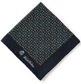 Brooks Brothers Plaid Link/Duck Printed Silk Pocket Square