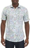 Robert Graham Diu Beach Linen Short-Sleeve Shirt, White