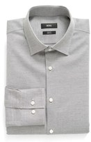 BOSS Men's Slim Fit Solid Stretch Dress Shirt