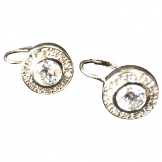 Non Signã© / Unsigned Dormeuses Silver Crystal Earrings