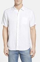 Tommy Bahama Men's Big & Tall 'Seaglass Breezer' Short Sleeve Linen Sport Shirt