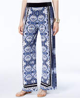 INC International Concepts Petite Printed Wide-Leg Soft Pants, Only at Macy's