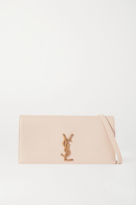 Saint Laurent Kate 99 Leather Shoulder Bag - Beige