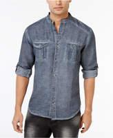 INC International Concepts Men's Garment Dye Linen Shirt, Only at Macy's