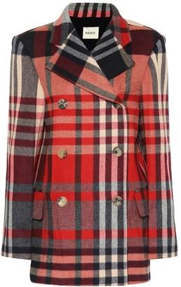 KHAITE The Clara checked wool-blend coat