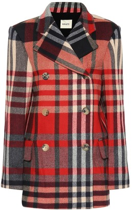 KHAITE The Clara checked wool-blend coat