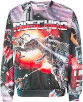 Moschino Transformer intarsia sweatshirt - men - Cotton/Polyester - 44