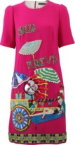 Dolce & Gabbana Italia Forever Embroidered Dress