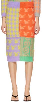 Ashley Williams Multicolor Mohair Patchwork Skirt