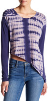 Go Couture Asymmetrical Tie Dye Sweater