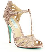 Betsey Johnson Blue by Tee Glitter Dress Sandals