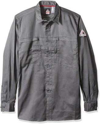 Bulwark Fr Bulwark Men's Iq Series Comfort Woven Concealed Pocket Shirt Big and Tall