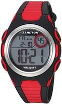 Armitron Sport Quartz Resin Fitness Watch, Color:Red (Model: 45/7076BRD)