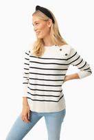 Tuckernuck Cream Parisian Striped Sweater