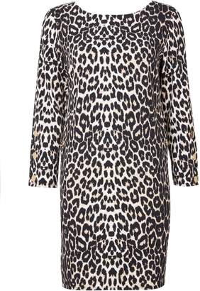 Wallis Brown Animal Print Shift Dress