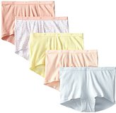 Just My Size Women's 5-Pack Cotton Boyshort, Assorted, 10