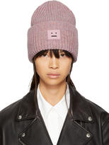 Acne Studios Pink Pansy Face Beanie
