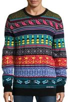Diesel Cruz Pattern Wool Blend Sweater