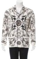 Versace Abstract Print Pajama Shirt