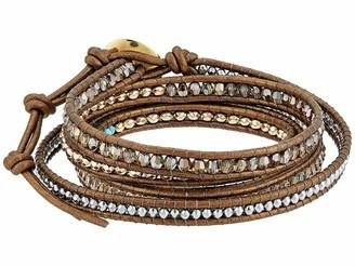 Chan Luu Bronze Shade Crystal Mix Wrap Bracelet Bronze Shade Mix One Size