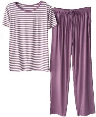 Goodnight Macaroon 'Lola' Round Neck Striped PJ Set (3 Colors)