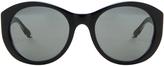 Victoria Beckham Upswept Oval Sunglasses