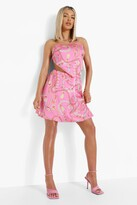 Thumbnail for your product : boohoo Shell Print Scarf Top & Mini Skirt