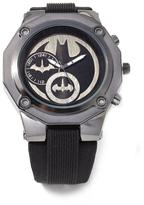Batman Black Logo Dial Silicone Strap Watch