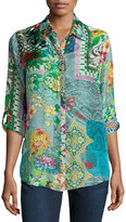 Johnny Was Brightwood Printed Blouse, Plus Size