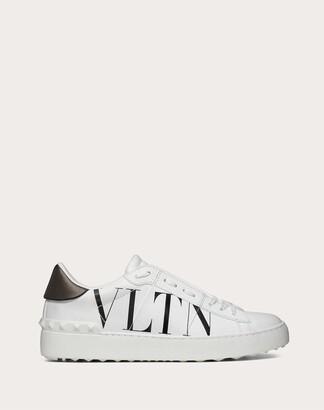 Valentino Vltn Open Sneaker Women White/ Black Calfskin 100% 41.5