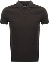 Giorgio Armani Jeans Short Sleeved Polo T Shirt Brown