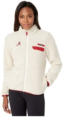 Columbia College Alabama Crimson Tide CLG Mountain Sidetm Heavyweight Fleece (Chalk/Red Velvet) Women's Fleece