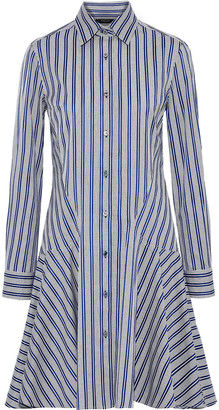 Derek Lam Striped Cotton-jacquard Shirt Dress