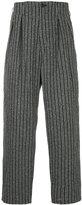Yohji Yamamoto striped tapered trousers