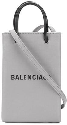 Balenciaga Logo Print Crossbody Bag