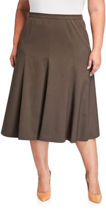 Lafayette 148 New York Plus Size Midi Boot Skirt