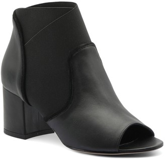Bettye Muller Bettina Leather Peep Toe Bootie
