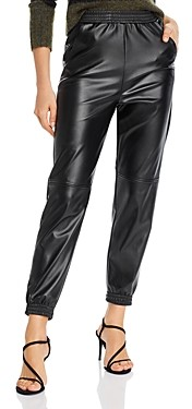 Aqua Faux Leather Jogger Pants - 100% Exclusive