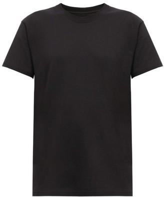 Bottega Veneta Logo-embroidered Cotton T-shirt - Black