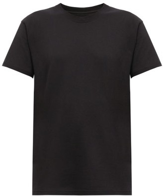 Bottega Veneta Logo-embroidered Cotton T-shirt - Womens - Black