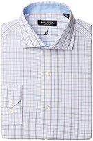 Nautica Men's Tattersall Cutaway Collar Dress Shirt