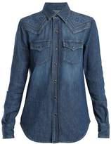 Saint Laurent Western-yoke denim shirt